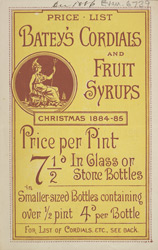 Advert For Batey's Cordials & Fruit Syrups